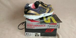NEW Skechers Go Meb Speed 2 Running Shoes Mens 11 GoMeb 53925 Black Gold