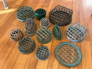 BIG LOT Vintage Metal Cage DAZEY Flower Frogs