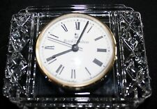 Royal Doulton Lead Crystal Clear Glass Quartz Clock - Made in Germany