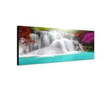 120x40cm Wandbild Huay Mae Wasserfall Thailand Leinwand Panorama Keilrahmen