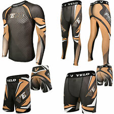 Velo Mma Shorts Training Compression Leggings Rash Guard Mma Fitness Exercise