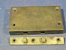 Old brass box lock