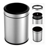 TEXAS RAGTIME 12L Stainless Steel Trash Can 3 Gallon Open Top Fingerprint Resist