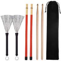 1 Pair 5A Drum Sticks Classic Maple Wood Drumsticks Set 1 Pair Drum Wire B G3J3)