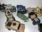 Lot of 20 Die Cast Toy Cars Vintage Military Transporters.Matchbox Maistro Boat