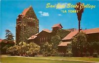 San Jose California~State College~Ivy Swamped La Torre~1950s Postcard