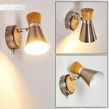 Retro Holz Spot Schalter Wand Strahler Flur Lampe Wohn Schlaf Zimmer Beleuchtung