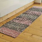 Pink & Grey Ombre Shaggy Rug Deep 3cm Shag Mat Non Shed Blush Living Room Rugs