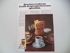 advertising Pubblicità 1972 CAFFE' BOURBON BOUR BON