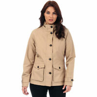 Womens Timberland Short Parka Jacket In Brown