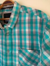 "Bench Short Sleeve Shirt. XXL 2XL . 50""  Chest. Green Grey Check."