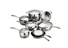 Tramontina 8/10 Gourmet Domus Stainless Steel Tri-Ply Base Cookware Set
