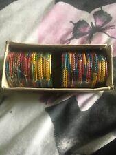 Multicoloured Two Packs Of 18 Asian Indian Style Bangle Bracelets