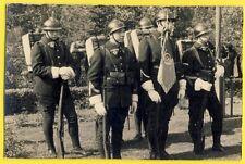 Carte Photo CHARMES sur MOSELLE MILITAIRES SOLDATS du 17ème Régiment sac à dos