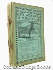 SYMONS'S METEOROLOGICAL MAGAZINE 18 issues 1906 to 1911, rainfall weather storms