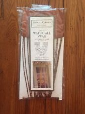 """CROSCILL HOME SEQUIN..BEADED WATERFALL 1 SWAG 18""""W x 30""""L COPPER PARIS BEADS"""
