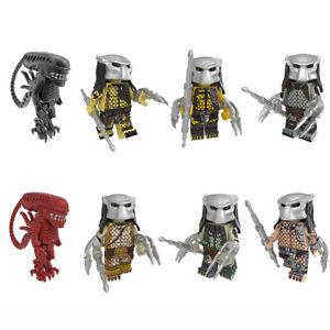 8pcs LEGO Figures Movie Alien vs Predator Scar Predator Building Blocks Gift toy
