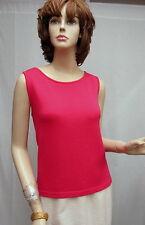 St. John Knit NWOT Hot Pink Sleeveless SHELL SZ L 10 12
