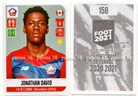 "RARE !! Sticker ROOKIE Jonathan DAVID ""FRENCH FOOT 2020-2021"" Panini"