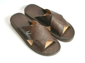 Herren Hausschuhe.Pantoffeln - Latschen.Innensohle aus Leder.Neu