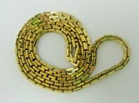 Monet Gold Tone Vintage NECKLACE EUC Signed Thick Chain 30 Inches Long