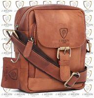 Mens Leather Satchel Designer Ladies Shoulder Cross body bag Messenger Travel