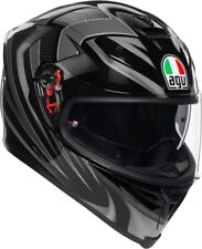Casco integrale moto racing pista corsa Agv K5 s Hurricane 2.0 black gunmetal