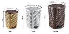 RATTAN style Plastic Storage Laundry Washing Clothes Basket Hamper w/Lid