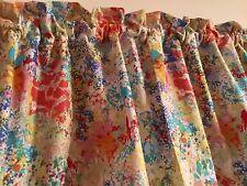 "Paint Brush Colors Valance HaNdMaDe Window Topper Cotton fabric 43""W x 15""L"