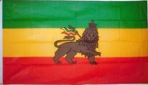 5' x 3' Ethiopia Lion Rasta Flag Africa African Ethiopian Rastafarian Banner