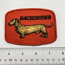 Vintage  Dog Pet Breed Dachshund Wiener  Sew-On Patch . Show Label