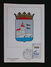 SPAIN MK 1966 ESCUDO BILBAO WAPPEN BLAZON MAXIMUMKARTE MAXIMUM CARD MC CM c5590