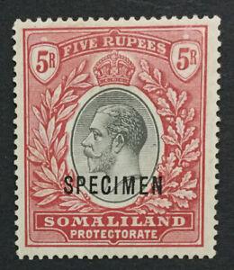 MOMEN: SOMALILAND SG #85s 1921 SPECIMEN MINT OG H LOT #191444-655