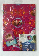 DISNEY congelato Wrap Set FOGLI + etichette 50 x 70 - 2 Colori / Disegni In Uno