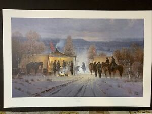 DECISION AT DAWN by G. Harvey 20 x 33 1/4 #642 of 1950 Civil War Series