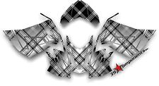 Ski-Doo REV XR1200 Custom Graphics Kit, Black Plaid Decal Sticker Skidoo