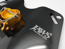 JAWS TYPE II Alloy Dual Play Gimbal Pad Plate for Big Game Jigging Fishing BLACK