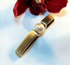 Noble Pierre Lang pendentif plaqué or avec perle Chaînes Remorque/BO 039