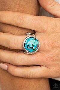 Paparazzi Marble Mosaic - Blue - Ring
