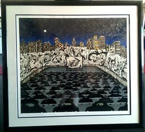 'Giant' Serigraph by Linnea Pergola Framed, Signed, Numbered.