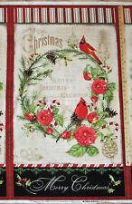"Christmas In the Wildwood Cardinal Woodland Fabric  23"" Panel    #33802"