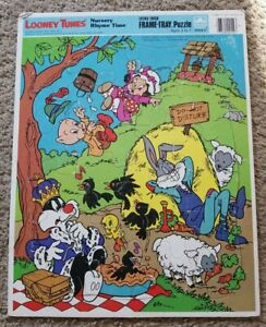 Vintage Looney Tunes Frame Tray Puzzle Nursery Rhyme Time (Warner Brothers 1983)