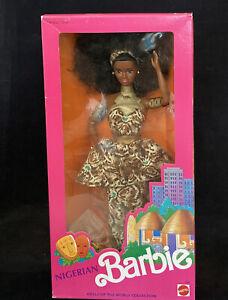1989 NIGERIAN Barbie (AA) African Black Doll TRADITIONAL TRIBAL COSTUM_7376_NRFB