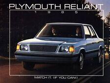 1985 Plymouth Reliant K 16-page Original Car Sales Brochure Catalog