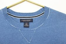 ~Banana Republic~Men's Size Tall Large~Cotton/Cashmere Blend~Solid Blue~Sweater~