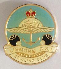 Lismore RSL Bowling Club Badge Pin Vintage Lawn Bowls (L33)