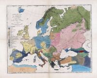 1861 ETHNOLOGY map EUROPE people ANCIENT RACES aborigine ITALY Germans CELTS 5