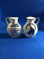 Vintage Wonderful Wyoming Salt And Pepper Shakers Made In Japan 3 3/4 Inch Tall