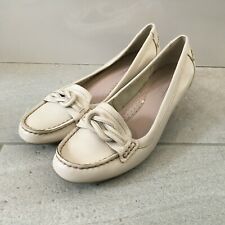 FOOTGLOVE Marks And Spencer FootGlove Court Shoes Womens Size UK 5 EUR 38 Beige