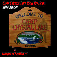 Friday The 13th Camp Crystal Lake, Movie Sign Replica, Jason Voorhees,